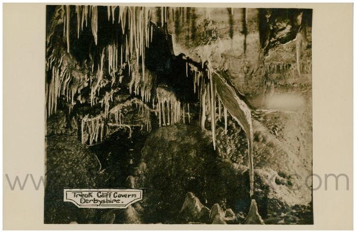 Postcard front: Treak Cliff Cavern, Derbyshire.