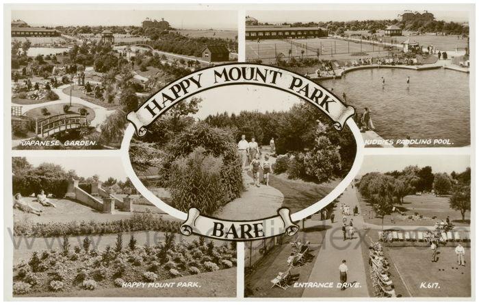 Postcard front: Happy Mount Park, Bare.