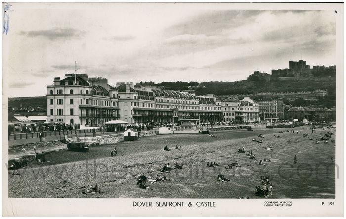 Postcard front: Dover Seafront & Castle.