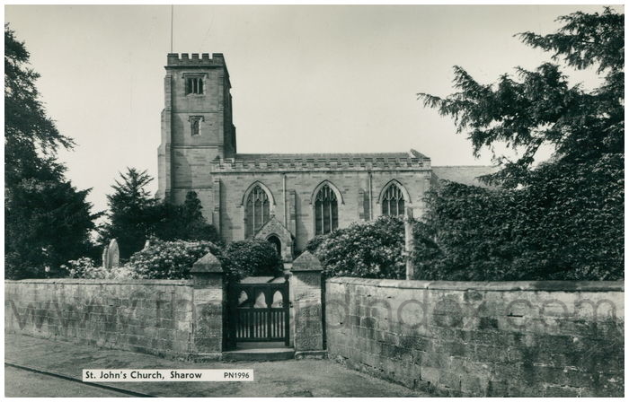 Postcard front: St. John's Church, Sharow