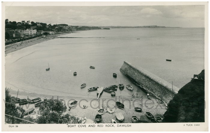 Postcard front: Boat Cove And Red Rock, Dawlish