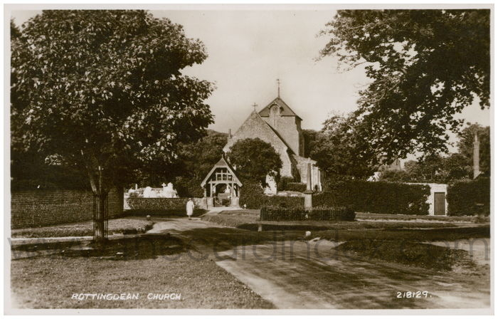 Postcard front: Rottingdean Church