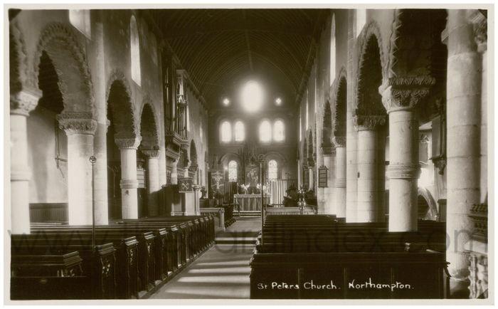 Postcard front: St. Peter's Church. Northampton.