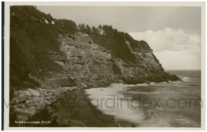 Postcard front: Maidencombe Point
