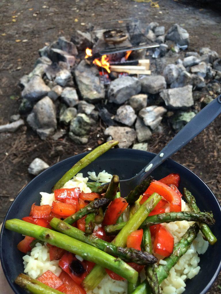 Campfire meals are supreme.