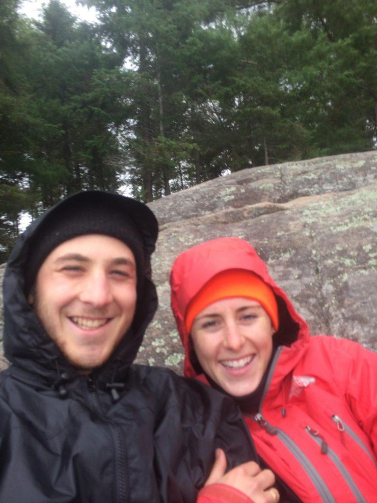 Cold, rainy selfie.