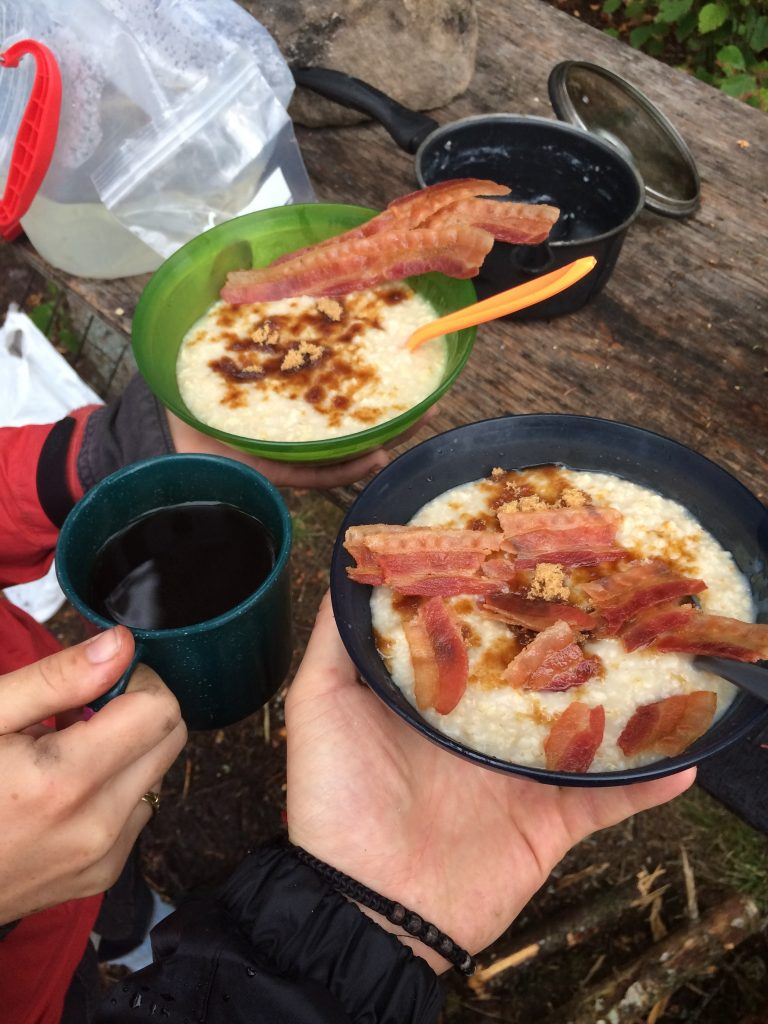 Porridge and bacon...that' ll get you hyped on the day ahead.