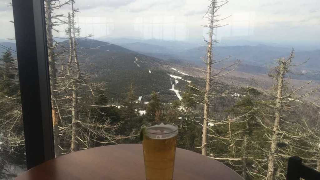 Well deserved beer on the summit