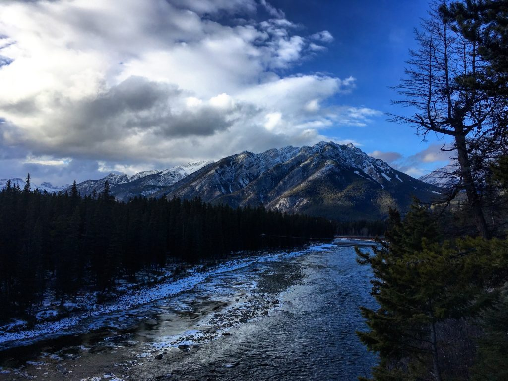 View from Bow Falls