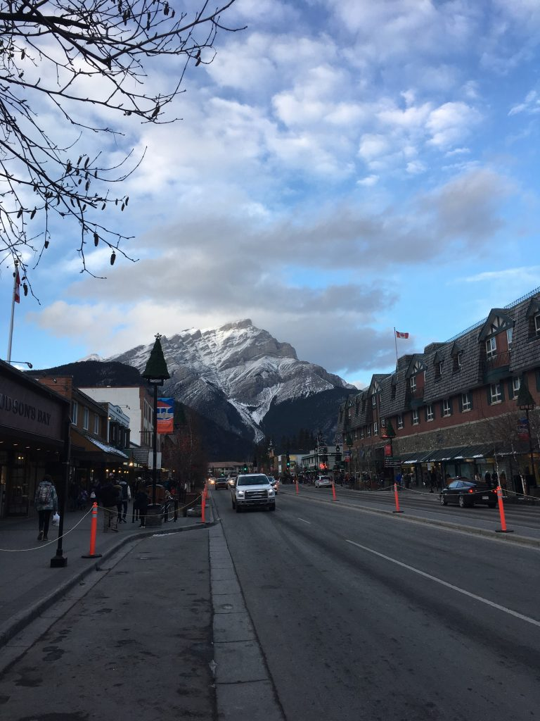 The typical downtown Banff shot.
