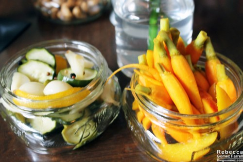 Carrots and pickles.