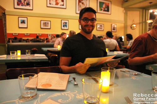 My cousin on his first meal out with me and my camera.
