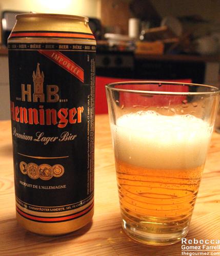 Henninger, a German ale.