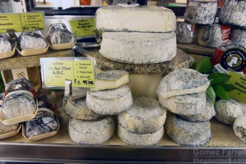 A small portion of Market Hall Foods' cheese selection.