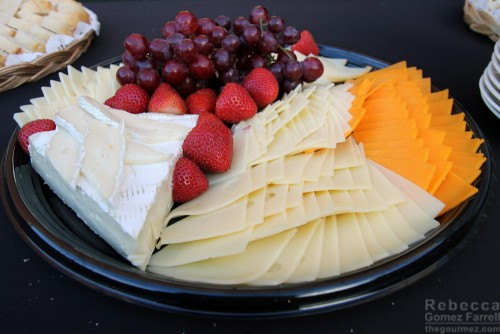 Cheese and fruit platters donated by Whole Foods of Walnut Creek.