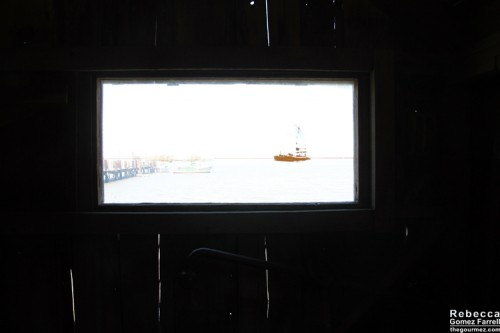 Looking out from the museum.