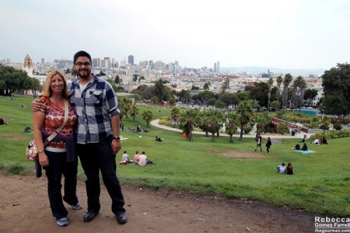 My sister and cousin at Dolores Park.
