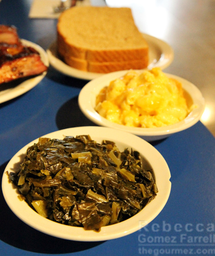Collards and Mac and Cheese