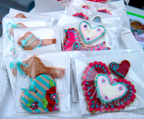 BabaSoup decorated heart cookies
