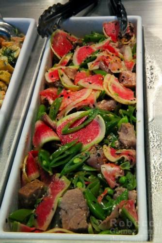 Watermelon radish & tuna side.