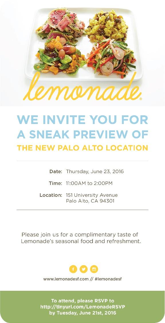 Lemonade Palo Alto Community Preview
