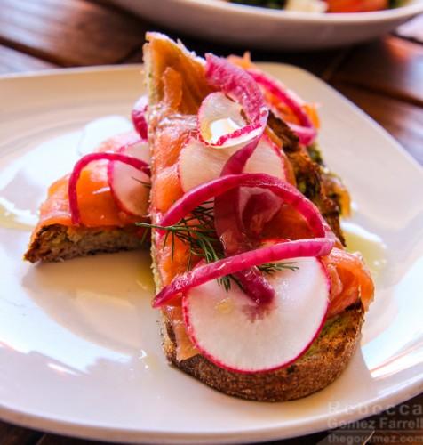Avocado lox toast Tiburon Tavern