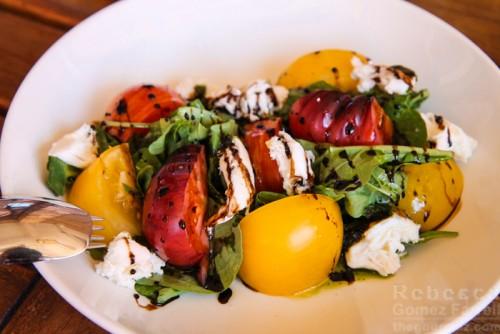 Heirloom tomato caprese mozzarella