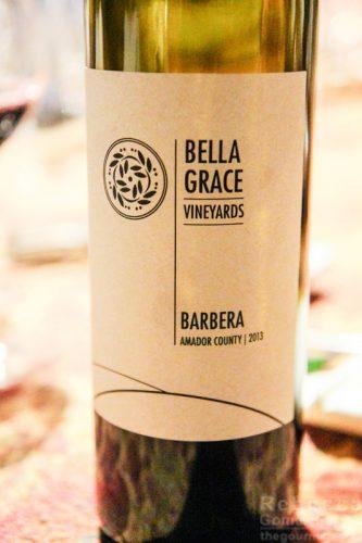 Bella Grace Vineyards barbera