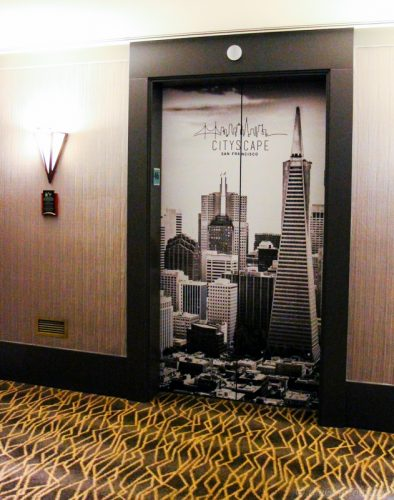 elevator Cityscape Hilton San Francisco