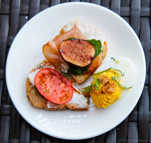crostini deviled egg sustainable contra costa