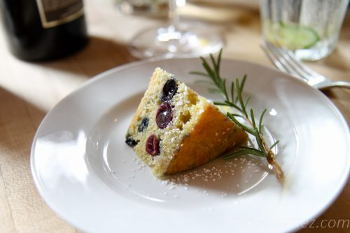 winemaker's cake, grapes, semolina