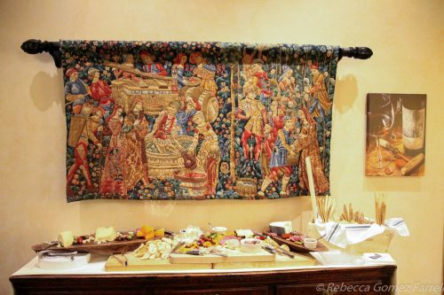 chateau montelena, great room, tapestry