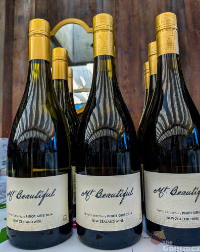 Mt. Beautiful wine, pinot gris, vertical tasting