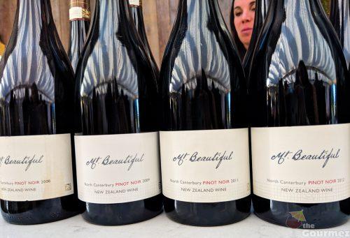 Mt. Beautiful wine, pinot noir, vertical tasting