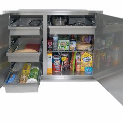42 Inch Sealed Dry Storage Pantry Open