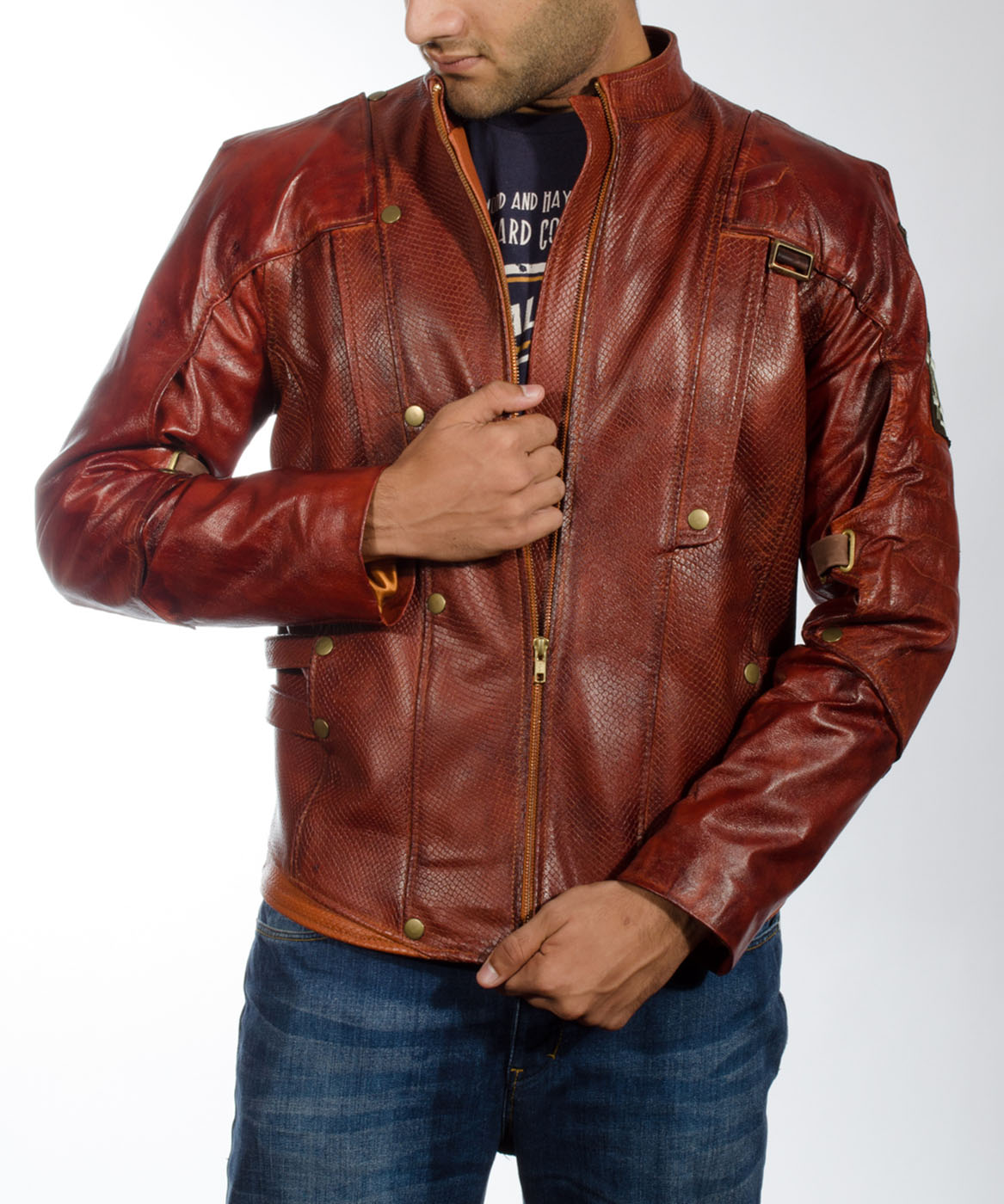 Tjm 0192 mars maroon leather jacket