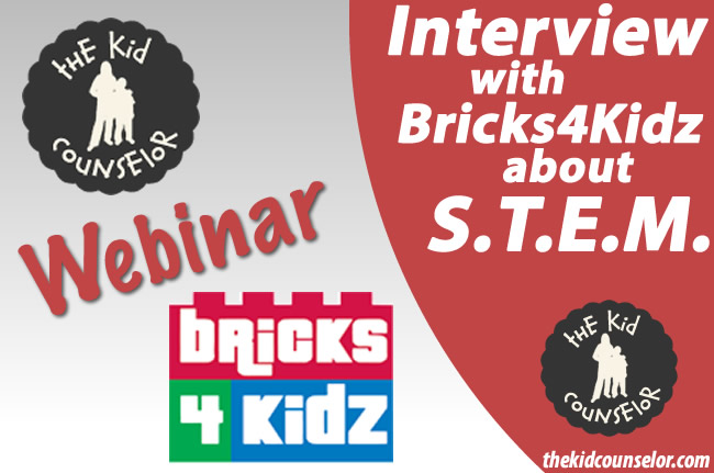 STEM topic interview between The Kid Counselor and Bricks4Kidz