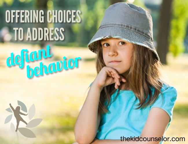 Offering Choices to Address Defiant Behavior
