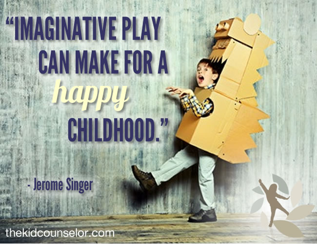 Imaginative play can make for a happy childhood.