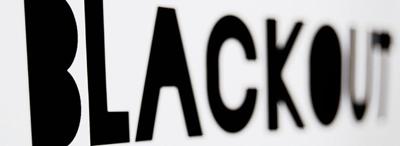 Blackout typeface