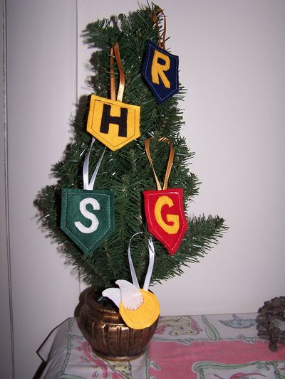 House banner & snitch ornaments by hardhat_cat.