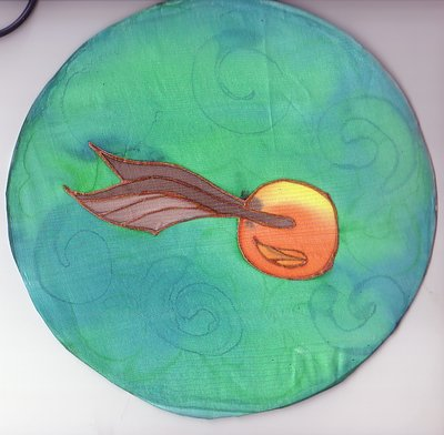 Golden Snitch Silk Painting