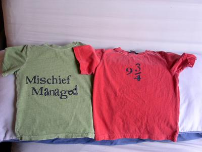 Kids' Mischief Managed & Platform 9 3/4 Stamped Shirts