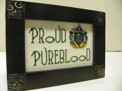 Pureblood Slytherin Plaque