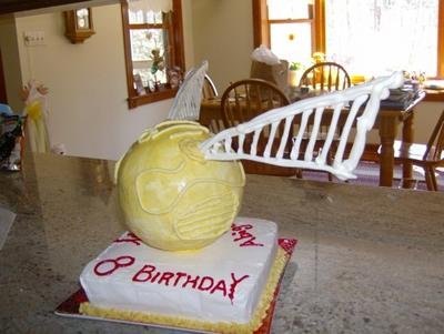 Golden Snitch Cake - picture 2
