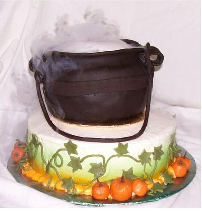 Smoking Cauldron Cake