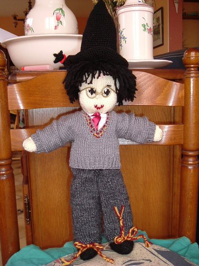 Harry Potter knit doll - 4