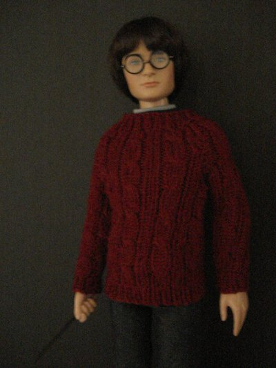 Harry's Red Cable Sweater from Sorcerer's Stone for 16