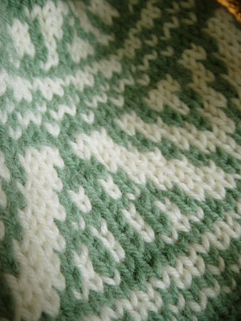 Close-up of Fair Isle work