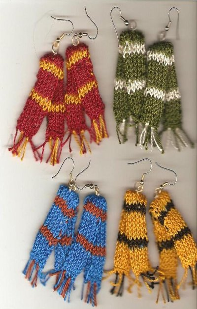 House Scarf Earrings